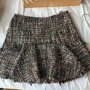 LPA Multi color tweed mini skirt